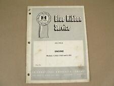 Shop Service Manual International Harvester Engine Model C-123 135 153 1964
