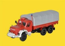 Kibri 18264 Fire Brigade Magirus Jupiter with Flatbed And Tarpaulin, Kit, H0