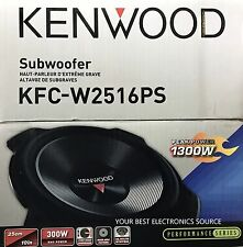 "NEW Kenwood KFC-W2516PS 10"" Single 4 ohm Performance Series Car Subwoofer"