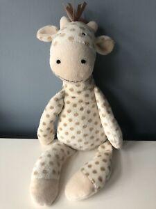 "RETIRED Jellycat Georgie Giraffe Plush 16"" Stuffed Soft Toy - Cream & Tan"