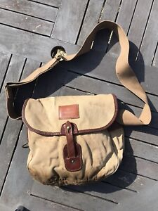 VINTAGE HOUSE OF HARDY CANVAS & LEATHER FISHING BAG