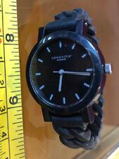 Identity London Black Watch New Wristwatch Rubber Strap Black Dial