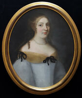 Fine 17th Century French Old Master Portrait of a Lady Lady Antique Oil Painting