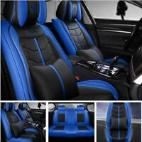 5-Seats Car Truck SUV Seat Cover Protector Universal Cushion Full Set PU Leather