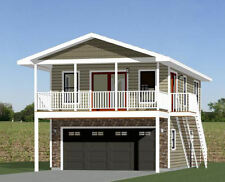 20x32 House -- 2 Bedroom -- 4:12 Roof Pitch -- PDF Floor Plan -- Model 7H