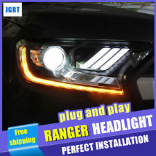 2Pcs Headlights assembly For Ford RANGER 2016-2018 xenon Lens Projector LED DRL