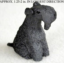 Kerry Blue Terrier Mini Resin Hand Painted Dog Figurine Statue Hand Painted