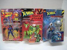 Lot of 3 X-Men Action Figures Domino Storm Rogue