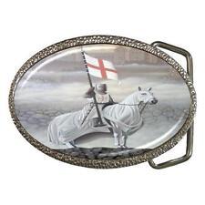 KNIGHTS TEMPLAR ON HORSE FLAG CROSS BELT BUCKLE - NEW!