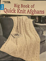 Leisure Arts Big Book of Quick Knit Afghans 24 designs in worsted yarn 1999 (B)