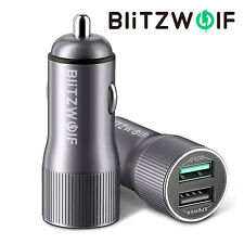 BlitzWolf BW-SD2 QC 3.0 Dual USB 2 Ports Fast Quick Charge Car Charger Adapter