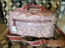 Used Tous Pink Bear Diaper Bag With Changing Pad And Small Bag