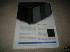 Krell FPB 600 Amp Ad from 1996, RARE! High End!
