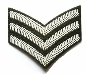 BRITISH ARMY SERGEANT STRIPES PATCH sew on cotton cloth badge Military jacket