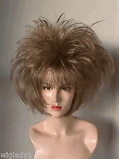SIN CITY WIGS DRAG QUEEN SHORT FUNKY SPIKED BOB PAGE LAYERS POINTY LIGHT BROWN