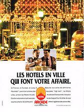 PUBLICITE ADVERTISING   1990    PULLMANN   ARCADE HOTEL