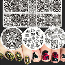 4Pcs Born Pretty Nail Art Stamping Plates Flower Butterfly Image Templates Kit
