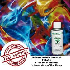Hydro Dipping Water Transfer Hydrographic Film 6oz Activator Rainbow Flame Kit