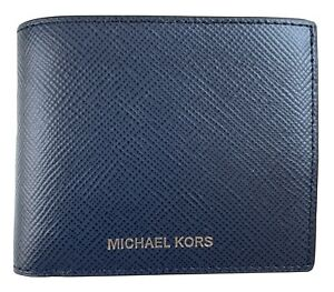 Michael Kors Jet Set Navy Leather Slim Billfold Wallet