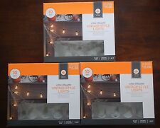3 BOXES Halloween 10 ct critter silhouette Halloween Vintage style lights insect