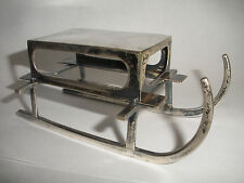 Antique German Matchbox match matches Holder Sleigh 800 Silver scupture 92.7 gr