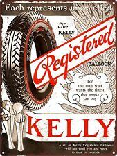 "1929 Kelly Springfield Balloon Tires  Garage Shop Metal Sign Repro 9x12"" 60512"