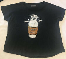Choke Women's T-shirt Size XL Penguin Spiced Latte