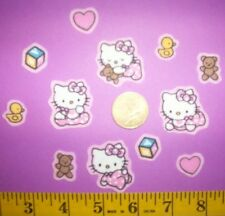 New! Cool! Hello Kitty baby showers Iron-on Fabric Appliques ~ Iron ons