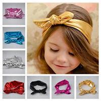 Fashion Baby Kids ChildrenToddler Girl Bow Hairband Turban Knot Rabbit Headbands