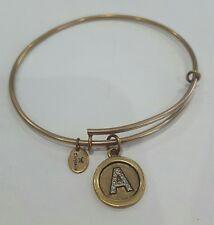 Chrysalis - A - Letter Initial - Gold - Expandable Bangle Bracelet Charm