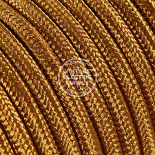 Cognac Round Cloth Covered Electrical Wire - Braided Rayon Fabric Wire