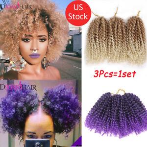 "8''/12"" Malibob Crochet  Braids Hair Extension Synthetic Afro Curls Twist Braids"