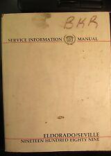 1989 Cadillac Eldorado & Seville Shop Service Manual Original Gm Publication