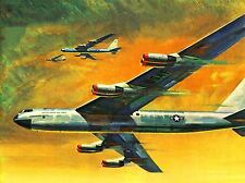 Pinturas avión avión Usaf formación arte cartel impresión lv2995
