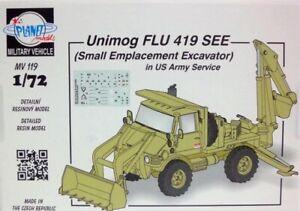 Planet Models 129-MV119 - 1/72 Unimog Flu 419 Lake US Army-Full Resin Kit