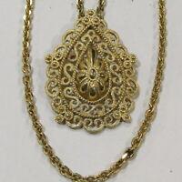 Vintage CROWN TRIFARI Necklace Designer Signed Filigree Estate Jewelry