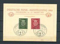 BRD Mi-Nr. 121-122 gestempelt mit SST auf Sonderkarte Deutsche Funk-Ausstellung