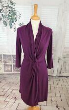 NOA NOA Dark purple Tencel & Cotton midi dress size L