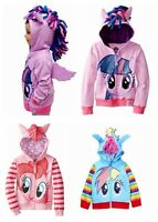 Hot My Little Pony Wing Girls Toddler Hoodie Cute Sweatshirt Coat Zip Jacket #!