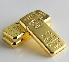 1 x Cigarette Accessories Fashion Gold Bar-Shaped Butane Gas Lighters