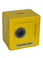 "Yellow Metal Kid Coin Safe Piggy Bank Cash Box w/ Combination Lock 5.25""H,SS621Y"