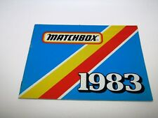 Matchbox Superfast 1983 Catalogue - No Graffiti - Near Mint