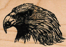 "mounted rubber Eagle Profile    wood mount  1 3/4"" X 2 1/2"""
