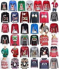 Christmas Xmas Unisex Ladies Mens Jumper Sweater Knitted Retro Novelty Vintage