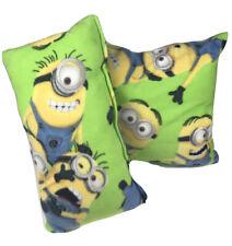 Disney Despicable Me Minions Neon Green Homemade Pillows Home Decor 2 In A Set