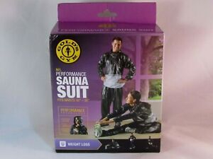 "Golds Gym Performance Sauna Suit M/L Fits Waist 36""-44"" Fitness Accessory New"