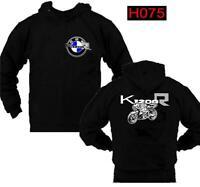 Felpa cappuccio nero moto personalizzata Bmw K1200 R hoodie sweatshirt H075