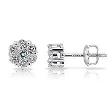 14K Gold 0.25ct TDW Diamond Cluster Stud Earrings (G-H, I2)