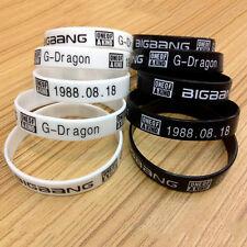2pcs Fashion BIGBANG G Dragon Birthday Stars Silicone Neon Wristband Bracelet