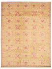 """Vintage Tribal Area Rug 8'0"""" x 9'7"""" Authentic Oushak Hand Knotted Wool Carpet"""